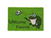 Paillasson Hamat 'Ruco' Print Welcome Friends Frog 40 Cm X 60 Cm