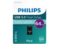 PHILIPS Clé USB  64 GB Mini Pico Noir (FM64FD90B/10)