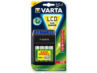 VARTA Chargeur De Pile LCD Plug Charger + 4 Piles AA (57677.101.441)