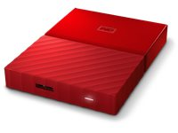 WESTERN DIGITAL Disque Dur Externe My Passport 1 TB Rouge (WDBYNN0010BRD)