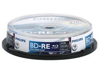 PHILIPS Pack 10 BD-RE 25 GB 2X (BD-RE BE2S2B10F)