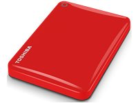TOSHIBA Disque Dur Externe Canvio Connect II 3 TB Rouge (HDTC830ER3CA)