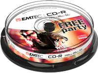 EMTEC Pack 10 CD-R Cake Box 700 MB 52 X (ECOC801052CB)