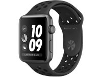 APPLE Watch Series 3 Nike+ - Boîtier Aluminium 42Mm Space Gray - Bracelet Sport Anthracite Nike