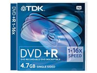TDK 5PACK DVD+R 4,7 GB 16X