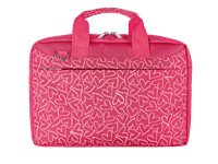 TRUST Sac Ordinateur Portable Bari 13.3'' Pinkt Hearts (21163)