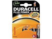DURACELL Plus Power AAA-Batterijen