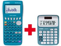CASIO GRAPH 25-E + Calculatrice De Bureau MS-6NC Bleu Gratuite