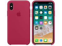 APPLE Coque En Silicone Iphone X Rose-Rouge (MQT82ZM/A)