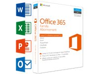 MICROSOFT SW Office 365 Famille (FR) | 5 PC Ou Mac + 5 Tablettes + 5 Smartphones