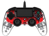 NACON Manette Filaire Compacte Lumineuse PS4 Rouge (PS4OFCPADCLRED)