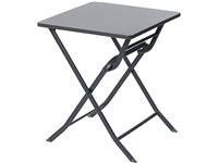 Table Bistro Central Park 'Stacy' Acier Anthracite 60 X 60 Cm, occasion d'occasion
