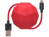 USBEPOWER Câble USB Cosmo Ball USB - Apple Lightning 1 M Rouge (USBE_COSMO_L_R)