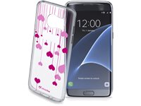 CELLULARLINE Soft Cover Style Case Heart Galaxy S7 Edge (STYCHEARTGALS7E)