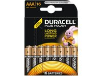 DURACELL Piles Plus Power AAA 16 Pack