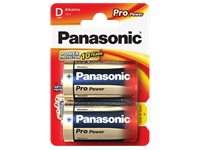 PANASONIC BATTERY Piles Alcaline LR20PPG 2 Pack