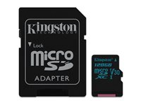 Kingston Micro SDXC Canvas Go! 128 Go 90 MB/S + Adaptateur SD