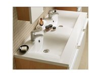 Allibert Plan De Toilette 'Wave' Polybeton Blanc Brillant 120 Cm