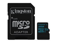 Kingston Micro SDHC Canvas Go! 32 Go 90 MB/S + Adaptateur SD
