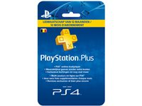 Playstation Plus Carte 12 Mois BE