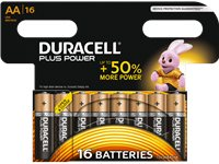 DURACELL Plus Power AA-Batterijen 16 Pack