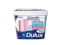 Peinture Latex Dulux 'Magic White' Blanc Mat 5L