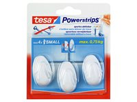 Occasion, Crochets Tesa 'Powerstrips' Ovale Small Blanc d'occasion