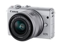 CANON Appareil Photo Hybride EOS M100 Blanc + 15-45 Mm Argenté Limited Edition (2210C049AA)