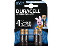 DURACELL Ultra Power AAA-Batterijen 4 Pack