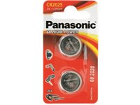 PANASONIC BATTERY Piles Lithium CR2025 2 Pack