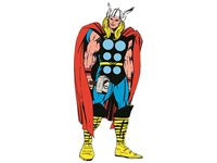 Sticker Mural Marvel 'Thor' Life Size d'occasion