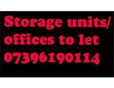 Storage Units offices secure parking 2 bedroom flat to let/rent New Moston