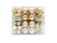 Set Décorations De Noël Central Park PVC Doré - 60 Pcs d'occasion