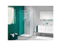 Porte De Douche Pivotante Et Paroi Get Wet Sealskin 'I AM' Chrome 90 Cm d'occasion