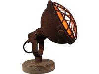 Lampe De Table Brilliant 'Mila' Rouille 25W