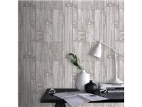 Papier Peint Intissé Decomode 'Wood' Beige d'occasion