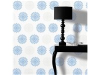 Papier Peint Intissé Decomode 'Medaillon' Bleu d'occasion