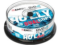 EMTEC Pack 25 DVD+R 8.5 GB 8 X Cakebox