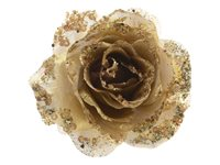 Rose Clip Decoris Or Clair 14 Cm, occasion d'occasion