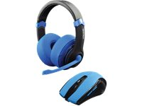 DRAGON WAR Casque Gamer + Souris Gamer Bleu + Fallout 4 (DWCOMBOSETREDF4)