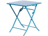 Table De Jardin Central Park  Stacy Acier Bleu 60X60cm