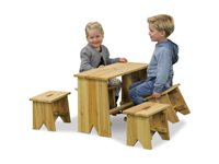Table De Pique-Nique Enfant Avec Bancs Exit 'Junior XL' 65 X 30 Cm