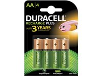 Pile Rechargeable Duracell 'Recharge Plus' AA 1300Mah - 4 Pcs