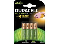Pile Rechargeable Duracell 'Recharge Plus' AAA 750Mah - 4 Pcs d'occasion