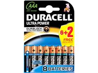 Pile Alcaline Duracell Ultra Power 'AAA - LR03 ' 1,5 V - 8 Pcs