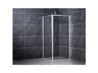 Paroi De Douche Laterale Aquavive 'Zanzibar' Chrome 90 Cm