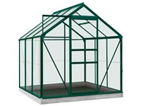 Serre ACD 'Intro Grow Daisy' Verre Sécurit & Aluminium Vert 3,8 M² d'occasion