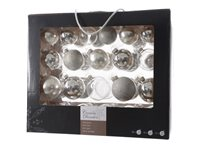 Set Boules De Noël Decoris Argent - 42 Pcs