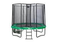 Occasion, Trampoline All-In-1 Exit 'Jump Contour' Ø 244 Cm Rond Vert / Gris d'occasion