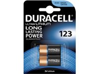 Pile Ultra Lithium Duracell '123' 3 V - 2 Pcs